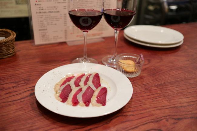 鴨ロースとワイン