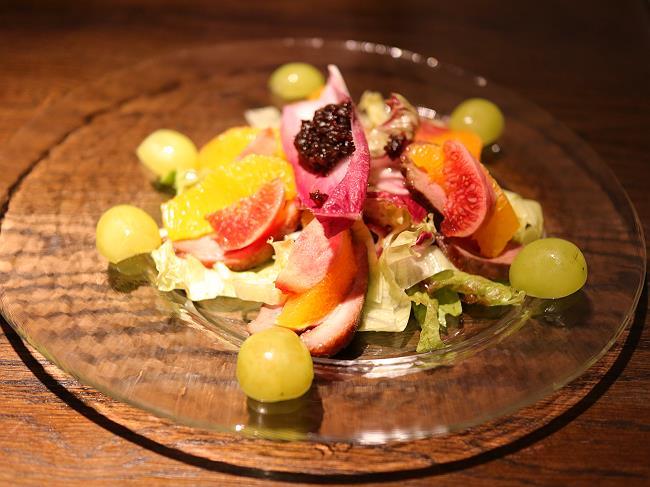 鴨ロースとオレンジのサラダ