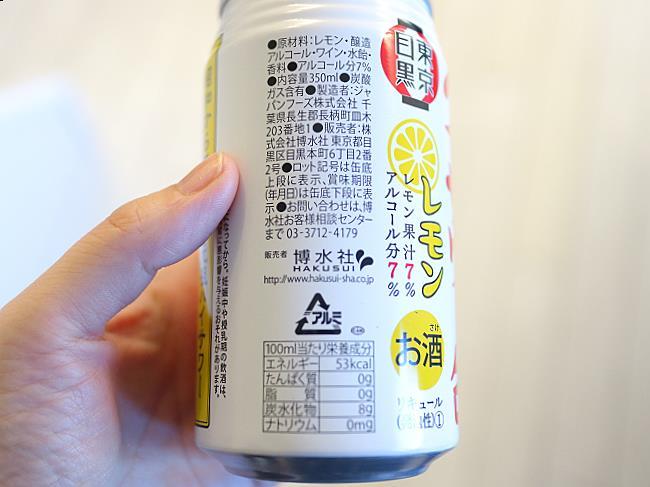 ハイサワー缶原材料