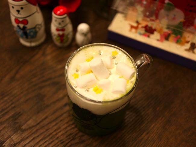 クリスマスほっと京都チューハイ抹茶上から