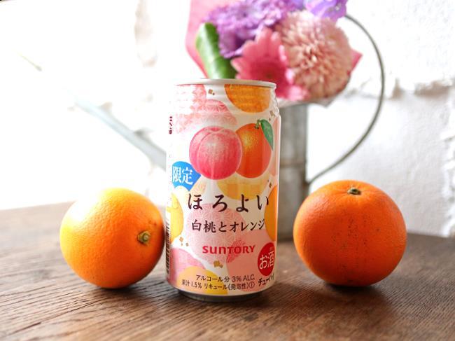 ほろよい白桃とオレンジ誕生日バージョン