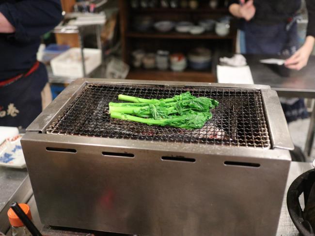菜の花の炭火焼