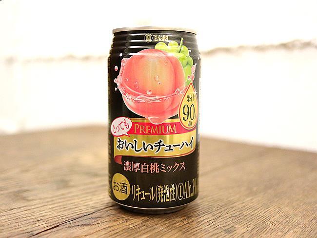 タカラおいしいチューハイ濃厚白桃ミックス
