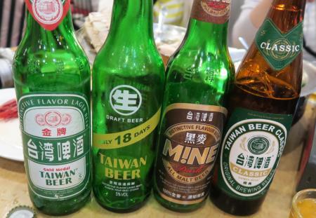 鵝肉城活海鮮(台北居酒屋)ビール全種