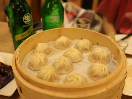 小籠包と台湾金牌生ビール