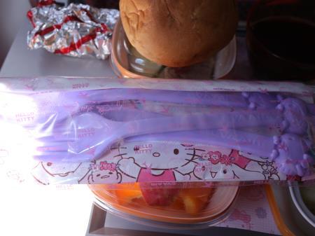 エバー航空ハローキティーなかよしジェット機内食カトラリー