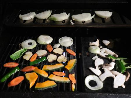 グリルで野菜
