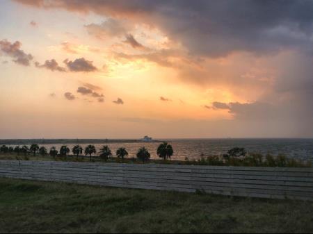 パームガーデン舞洲夕暮れの海辺