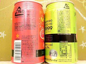 フォーナインクリアグレープフルーツ新旧飲み比べ原材料