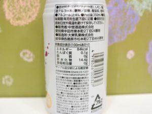 ぶどうのお酒スパークリング原材料